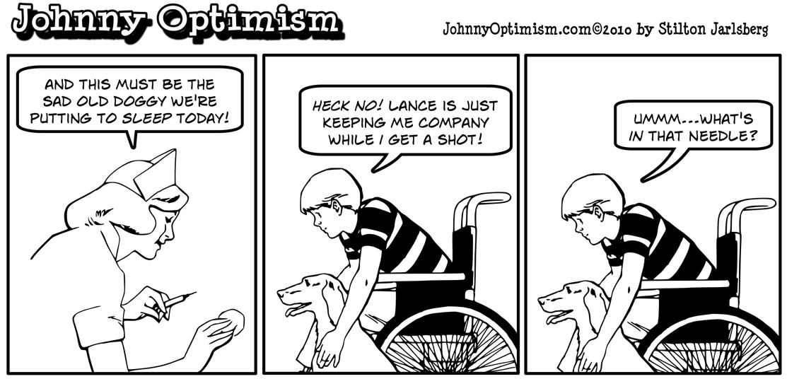 nurse, shot, lance, dog, johnny optimism, johnnyoptimism