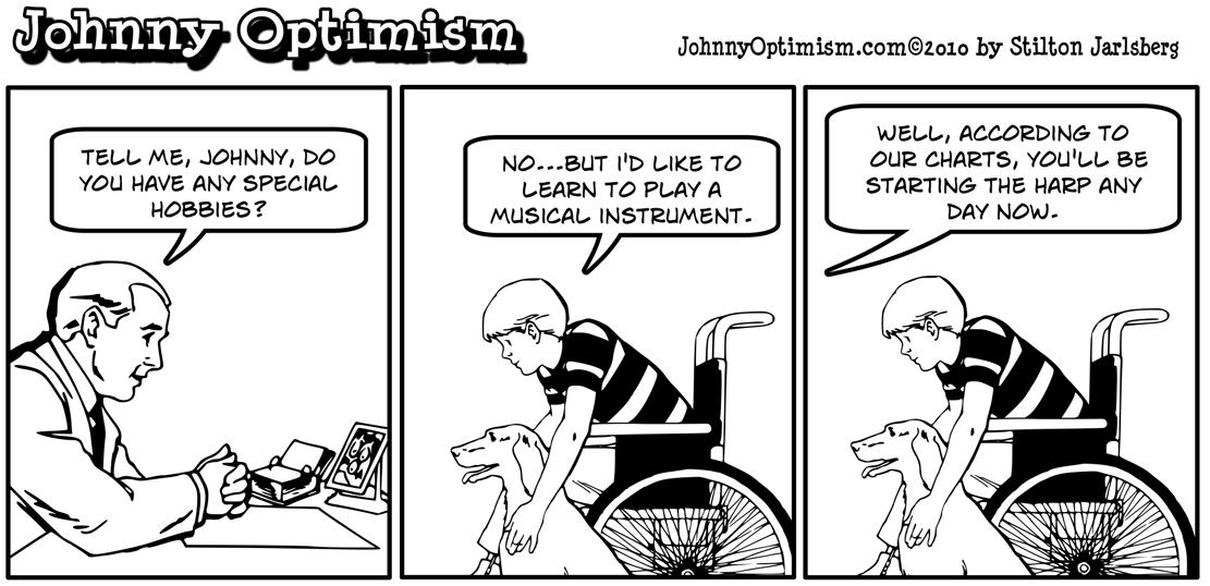 Johnny optimism, johnnyoptimism, harp