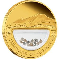 Treasure of Australia-Diamonds gold proof coin | lunaticg banknote ...