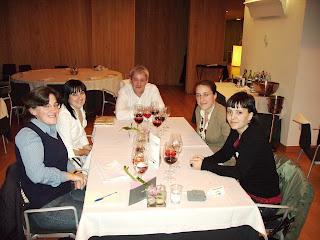 Mis compañeros de mesa; María, Mª Jesús, Mila y Pedro