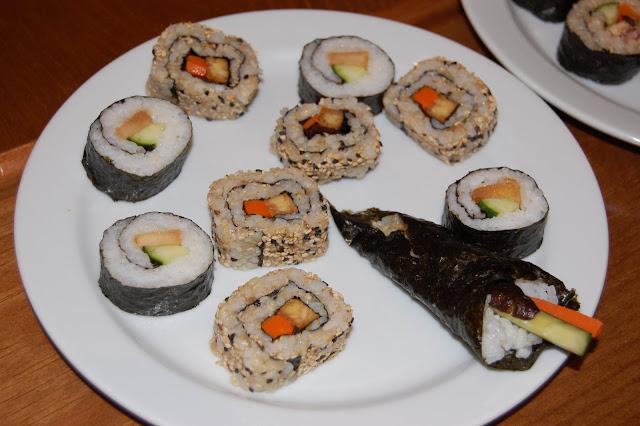 Se realizaron diferentes tipos de sushis, algunos muy creativos