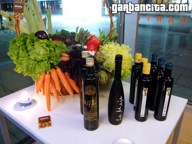 Bodegon de verduras de Zabalza y aceites DO Navarra