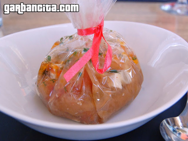 Bolsa sorpresa!: Sopa de ajo instantánea con queso del Roncal y contrapuntos