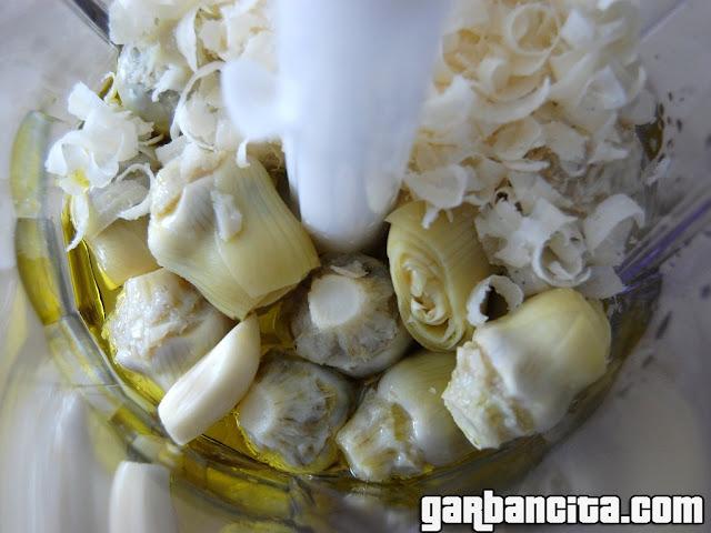 Ingredientes de la crema de alcachofas casera