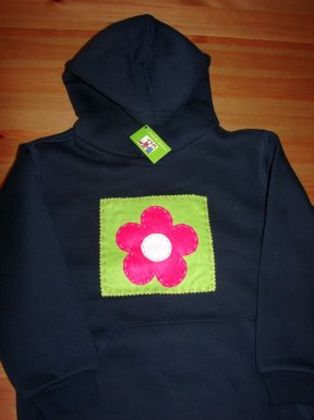 Sweat Shirt Capuz Flor