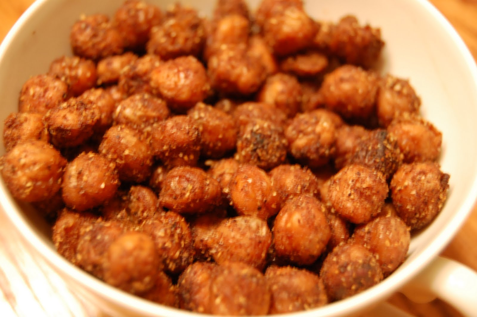 crunchy roasted chickpeas - A Bird and a Bean