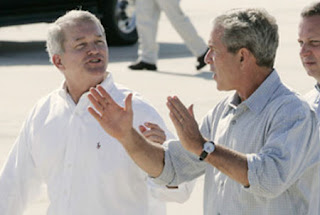 Short eyes Congressman Mark Foley with friend George Bush