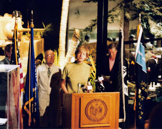 Tammy Baldwin at the Wisconsin Veterans Museum, July 2, 2003, announcing proposed legislation to expand health care for wounded veterans. Photo credit: John Hamilton