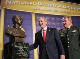 Bush being honored for his heroic service in the Texas National Guard