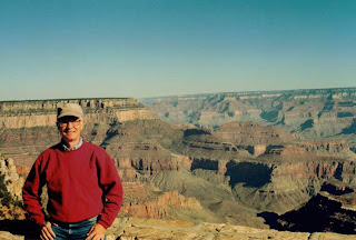 "Me at the Grand Canyon. It was near the end of a long camping trip, and I was pretty ""beautied out,"" but I felt right at home there, like it was an extension of myself, even a friend."