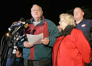 George Ryan at his press conference before heading for prison, November 6, 2007