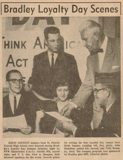 Me with Senator Paul H. Douglas, May, 1963