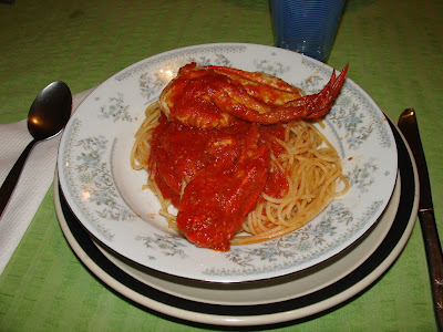 Blue Swimmer Crab on pasta