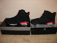 Comparison of 2010 Retro Air Jordan VIs to Counterfeit - Side by side