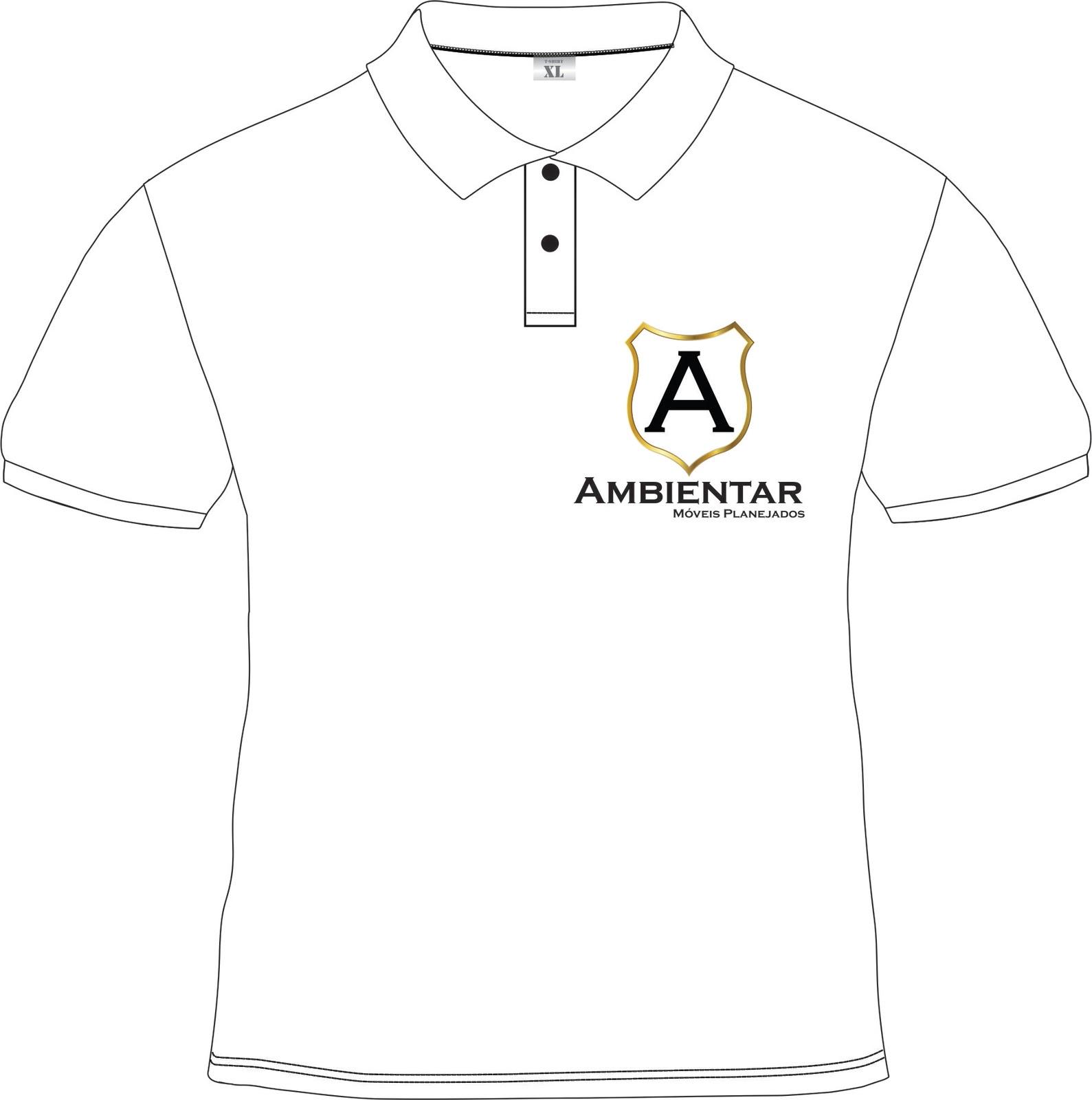 Desenho De Camisa Polo Branca Frente E Costas