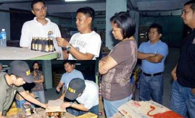 NBI raid in Taytay, Rizal.