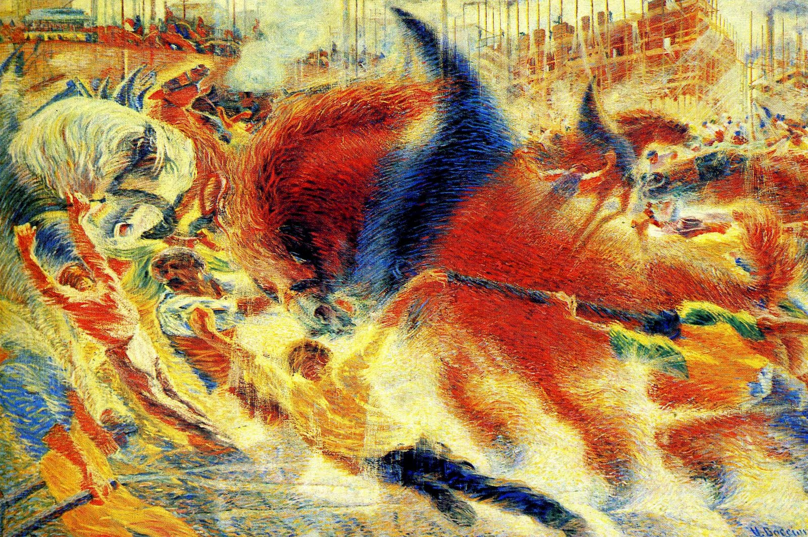 Boccioni Futurism Paintings of the futur...
