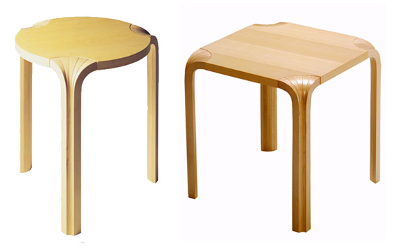 Mobcat taburetes x600 y x601 de alvar aalto - Alvar aalto muebles ...