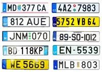 Yabancı Ülke Plaka Kodları, Avrupa Plakaları