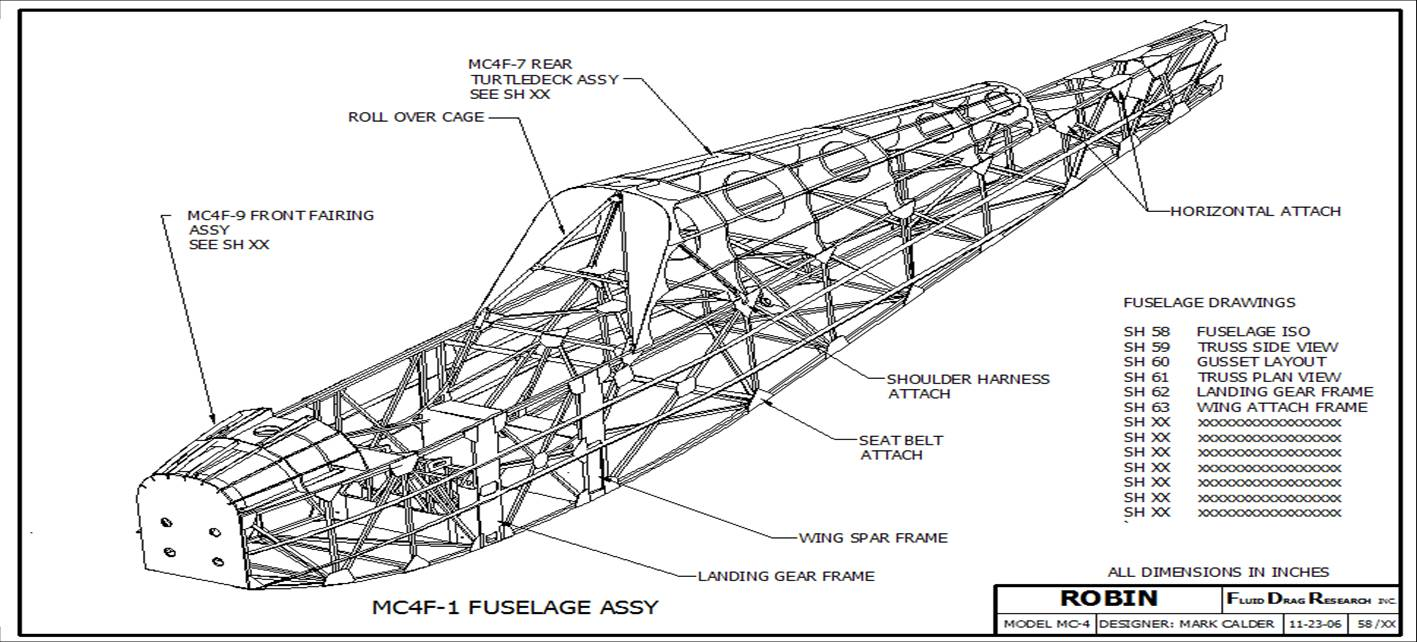 Robin Ultralight: FUSELAGE Construction