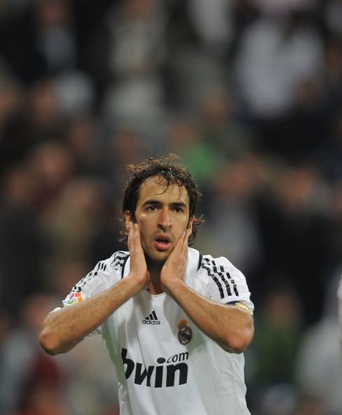 Raul Gonzalez Is A Striker Real Madrid Of Spain