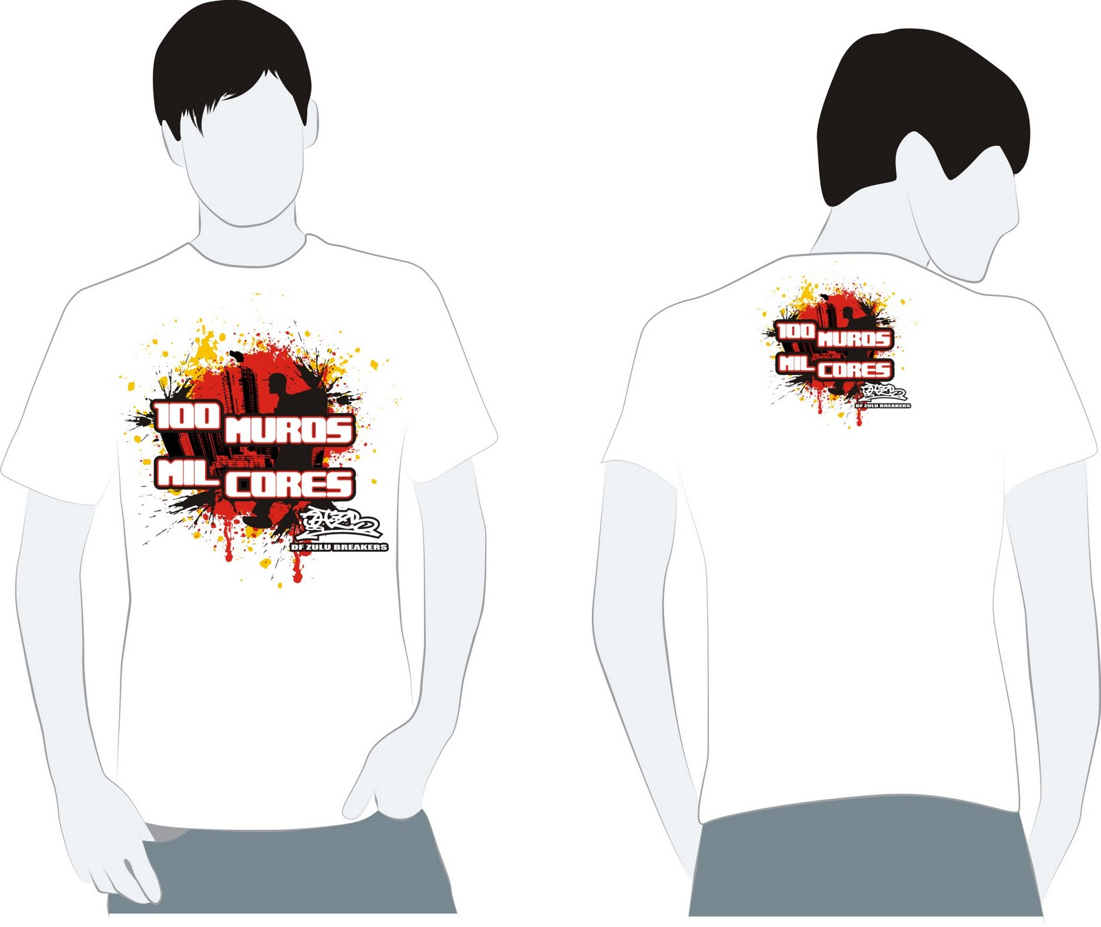 Layout Para Camisetas Do Envento 100 Muros Mil Cores