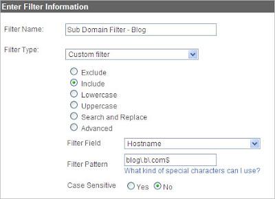 filtro su hostname