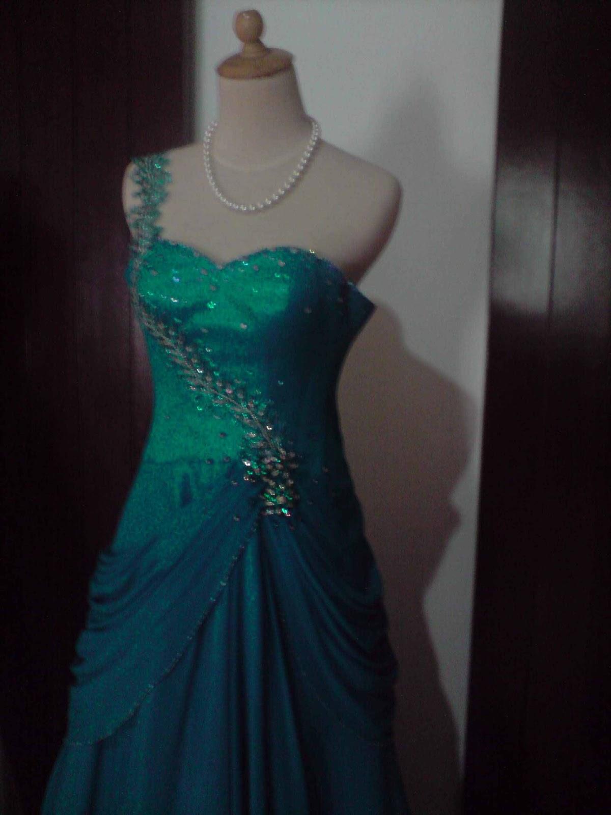 gaun pengantin organdi priscetan idr 3 500 000 all in gaun malam biru