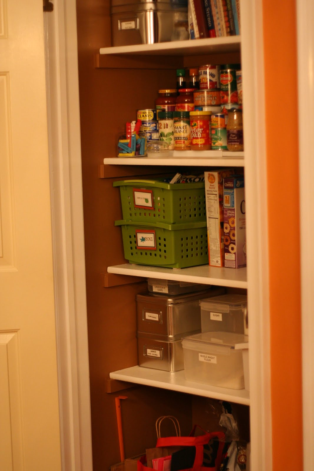 Shelves? The Baskets? The Laminated Labels? I Can't Pick It's Al . Full resolution  portraiture, nominally Width 1067 Height 1600 pixels, portraiture with #C34706.