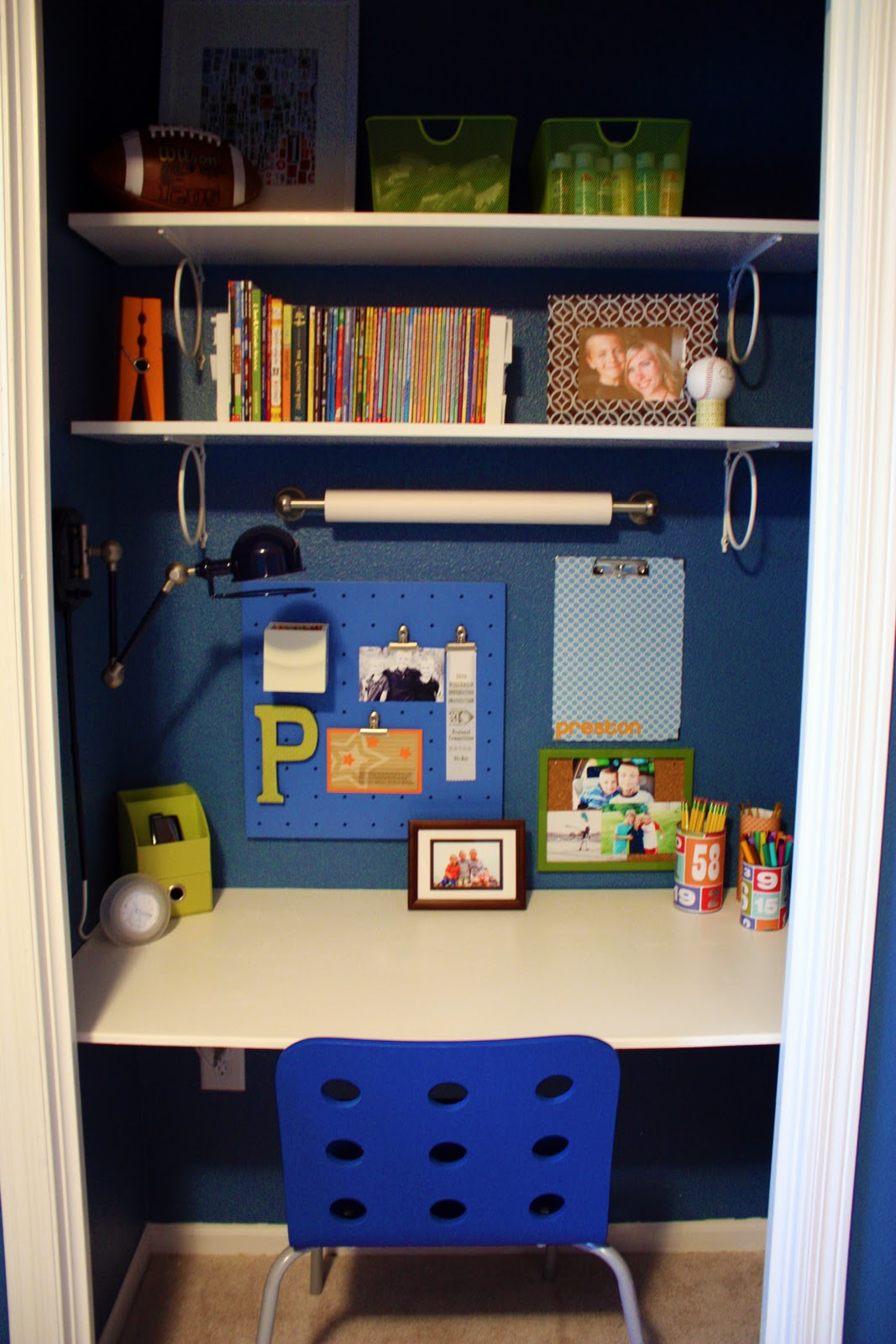 IHeart Organizing: Closet Case: The Ultimate Kid's Study Zone!. Full resolution  portraiture, nominally Width 1067 Height 1600 pixels, portraiture with #9E6C2D.