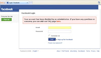 Your account has been disabled