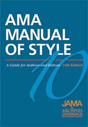 Searchable AMA Manual of Style now online