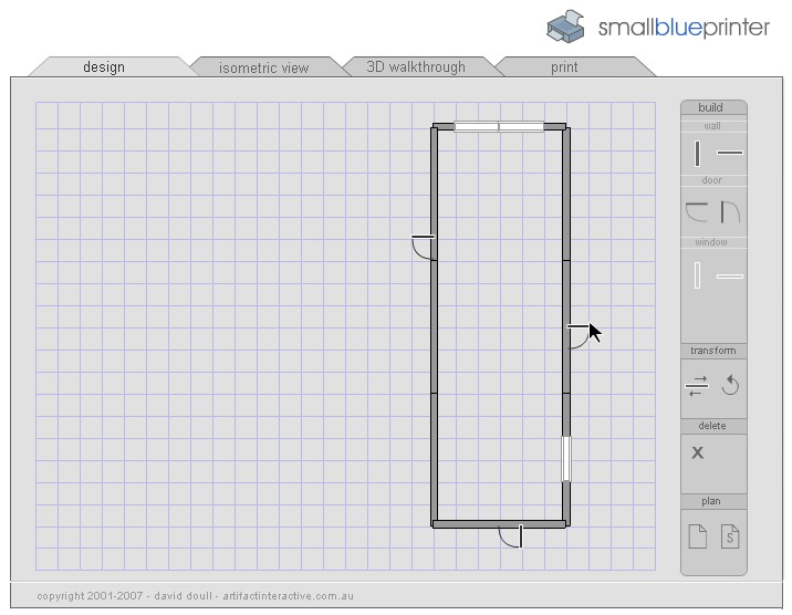 Tecnolog a habitual dise ar un plano online for Smallblueprinter