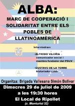Acte de la ALBA a Ripollet per Honduras