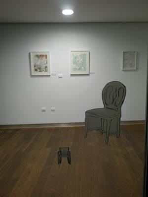 cristal con silla