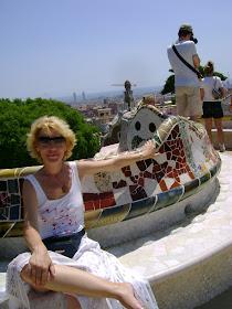 Adina in parcul Guel, Barcelona