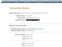 Pembayaran Ke-2 Ciao.Com