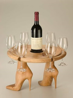 Wine on Heels stool