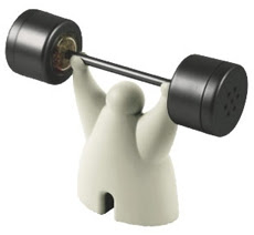 Weightlifter Salt and Pepper Shakers