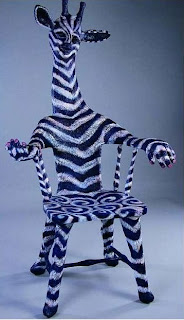 zebra giraffe chair