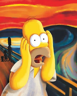 Homer Simpson in Edvard Munch's The Scream