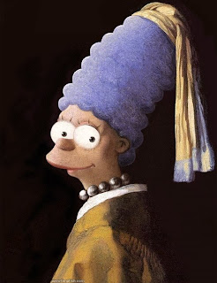 Marge Simpson as Vermeer's Girl with a Pearl Earring