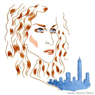 Sarah Jessica Parker illustration