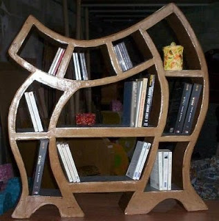 carton Cardboard bookcase