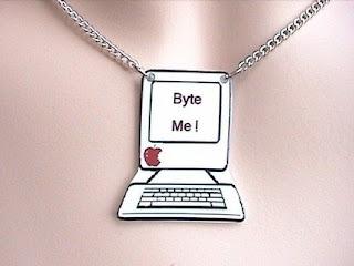 Byte Me geek pendant