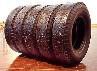 Recycled Engraved Tires