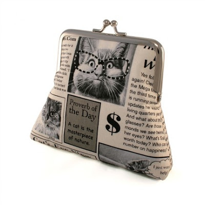 Cats Newspaper  Purse