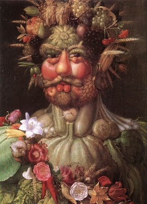 arcimboldo - portrait made of fruits, vegetables and flowers