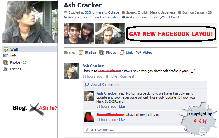 Intro : Facebook ugly profile layout : It's freaking ugly right? damn.