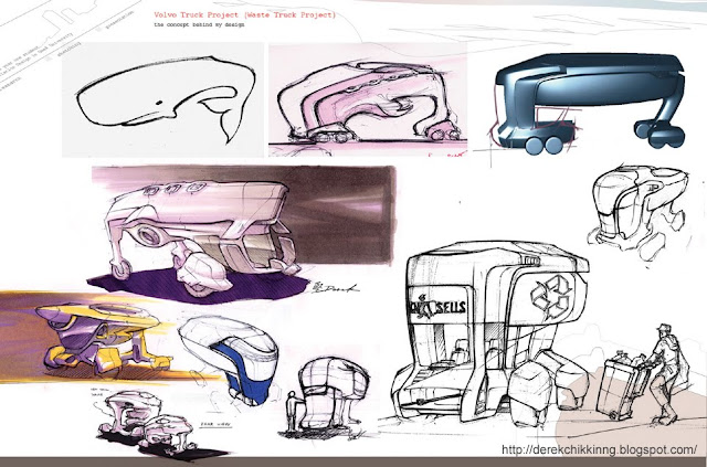 Future Waste Truck Sketches